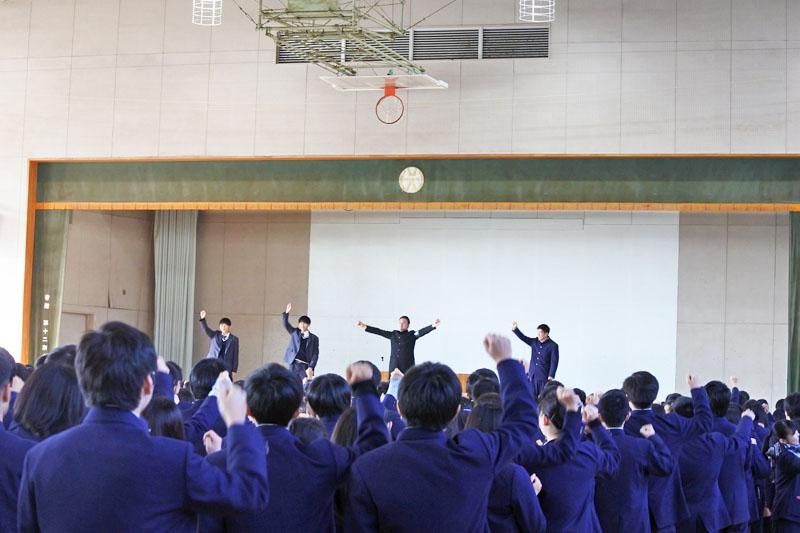 【活動報告】元石川高校で全校生徒を応援